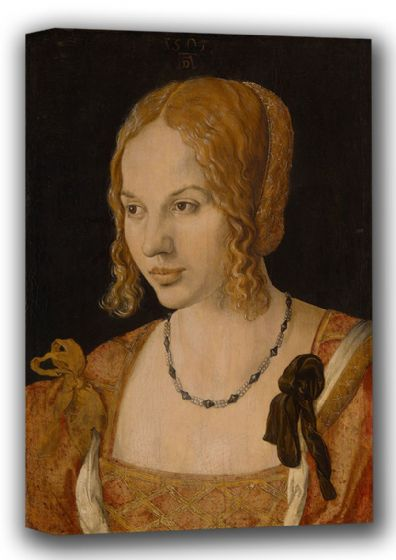 Durer, Albrecht: Portrait of a Young Venetian Woman. Fine Art Canvas. Sizes: A4/A3/A2/A1 (001911)